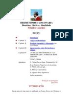 HERMETISMO E MAÇONARIA - Federico Gonzalez