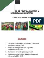 Politica Agraria Peru 2011 MINAG