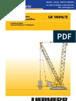 Liebherr LR1400 Technical Data