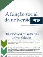 A função social da universidade