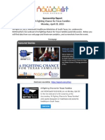 A Fighting Chance for Texas Families Sponsorship Report, Apr. 2013