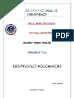 Erupciones Volcanicas Word
