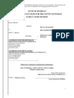 Divorce -Post Mediation Property Agreement W Chart