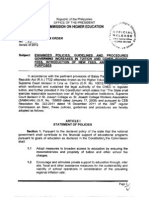 CHED Memorandum Order No. 3 s.2012 (Tuition and Other Fee Increase)