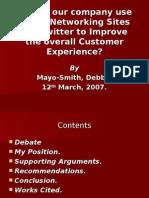 Strategic Twitter Presentation Mayo
