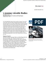 Popular Mechanics - Cleaning Throttle Bodies
