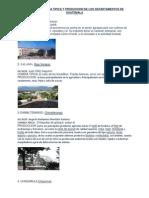 Alcaldes,Comidas y Produccion de Los Departamentos de Guatemala