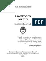 PERON, Juan Domingo. Conducción Política Cap IV al VI