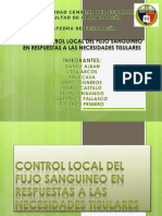 Control Local Del Fujo Sanguineo - Fisiologia