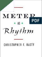 Meter as Rhythm - Christopher F. Hasty.