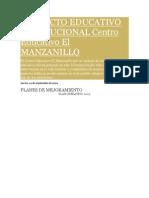 Proyecto Educativo Institucional Centro Educativo El Manzanillo