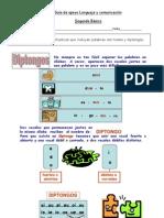 Guía de apoyo DIPTONGO Y HIATO