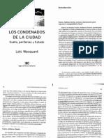 Wacquant Los Condenanos de La CiudadIntro Cap 6 8 y 9