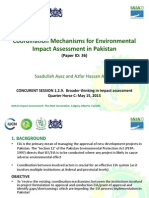 Coordination Mechanisms for Environmental Impact Assessment in Pakistan- Saadullah Ayaz