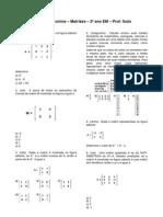 Matematica - 3ano - Lista de Matrizes - Guto