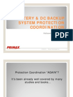 Battery and DC Backup System Protection and Coordination