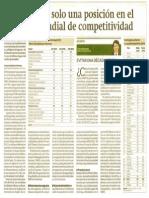 Perú mejoró solo una posición en el Ranking de Competitividad Mundial del IMD