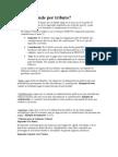 Clases de Impuestos, Tasas y Contribuciones.