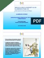 Jornadas Eficiencia Energetica Alumbrado Publico