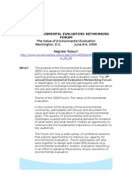 2009 Environmental Evaluators Networking Forum_rev