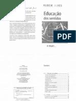 Rubem Alves - Educação dos Sentidos (Leitura)