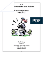 AP Government Syllabus