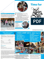 North Ryde Christian Church Children's Camp brochure