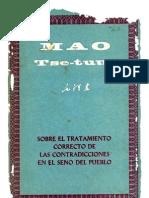 Mao Tsetung - Sobre El Tratamiento Correcto de Las Contradicciones en El Seno Del Pueblo