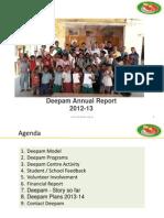 Deepam Annual Report 2012-13