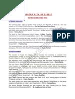 Current Affairs Digest 2012-IV