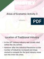 Areas of Economic Activity 3
