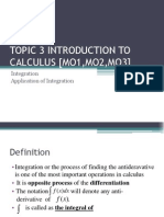 Topic 3 Introduction to Calculus - Integration