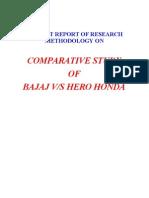 Bajaj vs Hero Honda Project Report