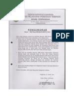 PDF Pengumuman Peraturan Bupati Kab Kutai Kartanegara Mengenai Imb Gedung Sarang Burung Walet Dan Menara Telekomunikasi Januari 2013