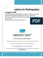 Radiography Test Inspection Free NDT Sample Procedure
