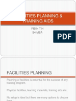 Facilities Planning & Training Aids