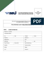 Medical Scholarship Application Form - 2012