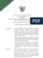 UU No 8 Tahun 2011 Tentang Perubahan Atas Undang-Undang No. 24 Tentang MK