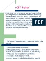 The Role of the Trainer