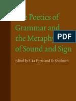 Poetics of Grammar