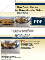Used and New Caterpillar and Olympian Gas Generators for Sale - May 2013