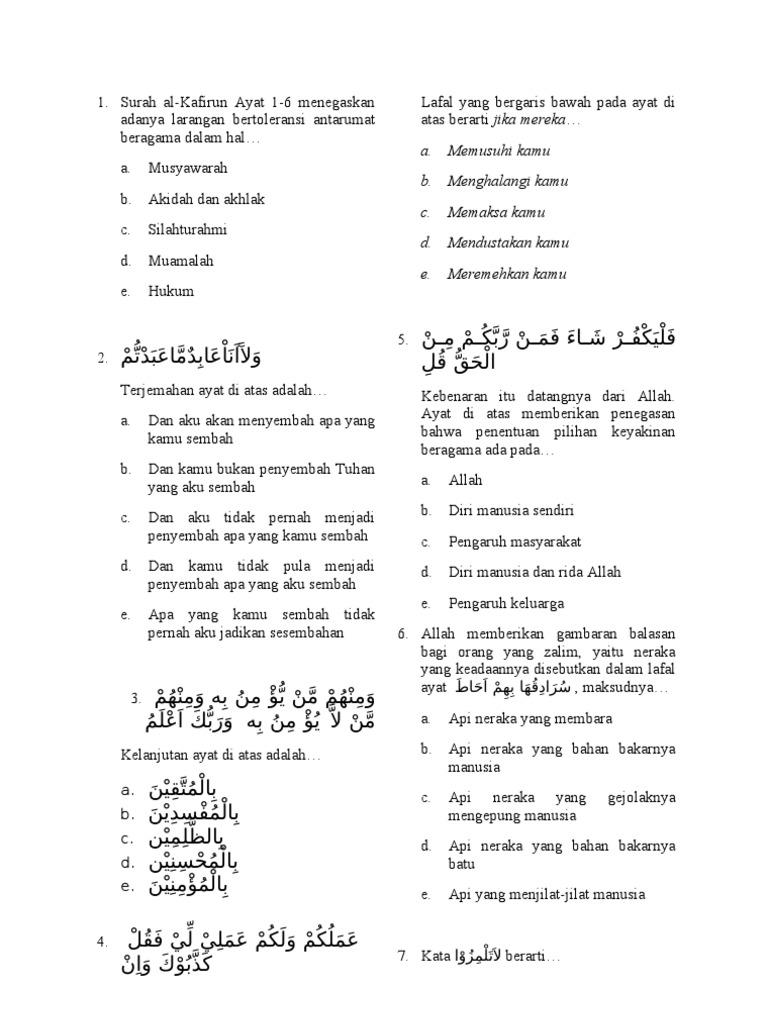 Tugas Soal Quran Hadits Kelompok 1
