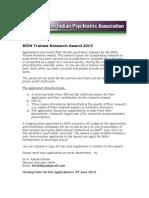 BIPA Trainee Award 2013