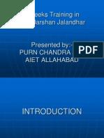 PPT on The Training at Doordarshan
