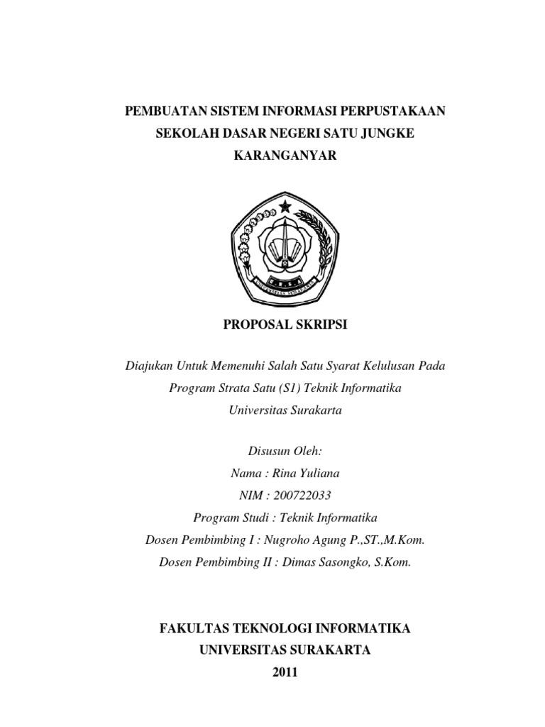 Skripsi S1 Sistem Informasi Ide Judul Skripsi Universitas