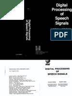 Digital Processing of Speech Signals (Rabiner & Schafer 1978)