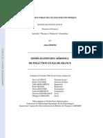 Hodzic A. Modélisation des aérosols de pollution en Ile-de-France