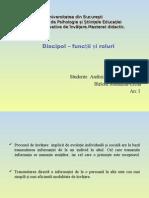 Discipol- Functii Si Roluri Madalina Birloiu Si Gabriela Andrei