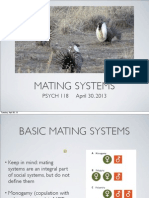 Lecture 8 - Mating Systems