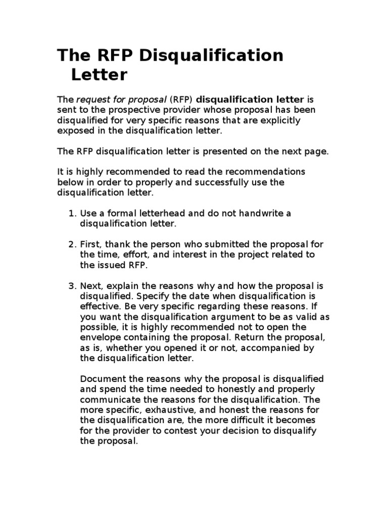 Rfp disqualification letter request for proposal professional rfp disqualification letter request for proposal professional wrestling altavistaventures Image collections
